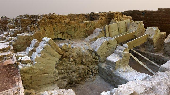 Roman pottery kiln - Archeological site Lorun 3D Model