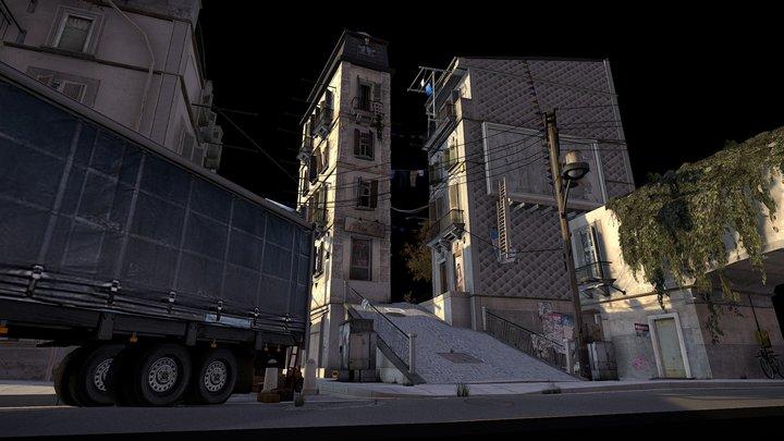 Cityscene Coimbra 3D Model