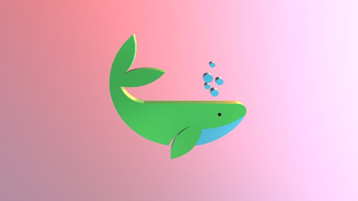 Cool Whale 3D Model