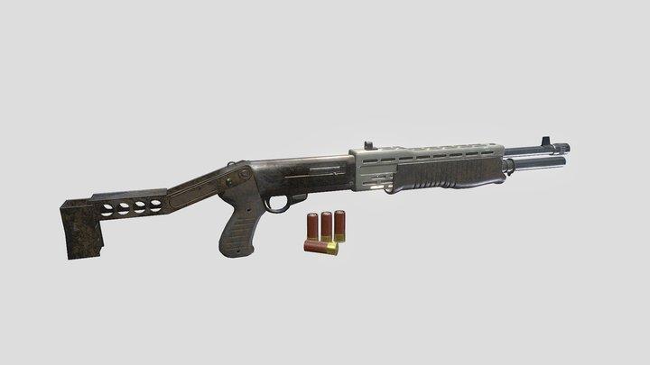 Franchi SPAS-12 Shotgun 3D Model