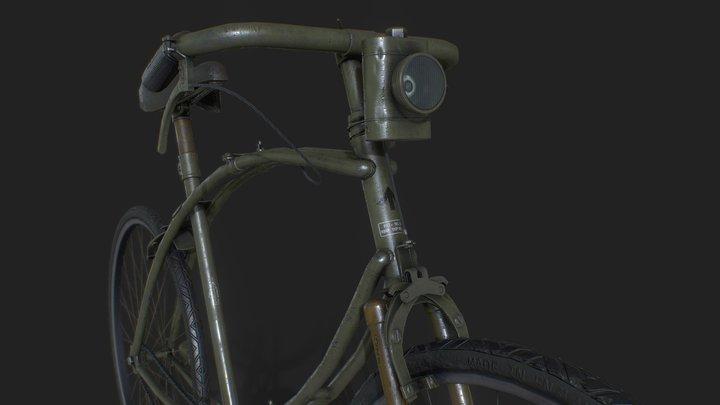 BSA WW2 folding paratrooper bicycle 3D Model