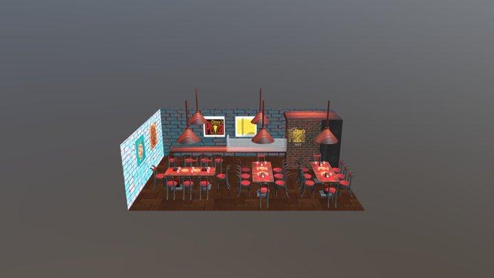 Pizzeria 3D Model