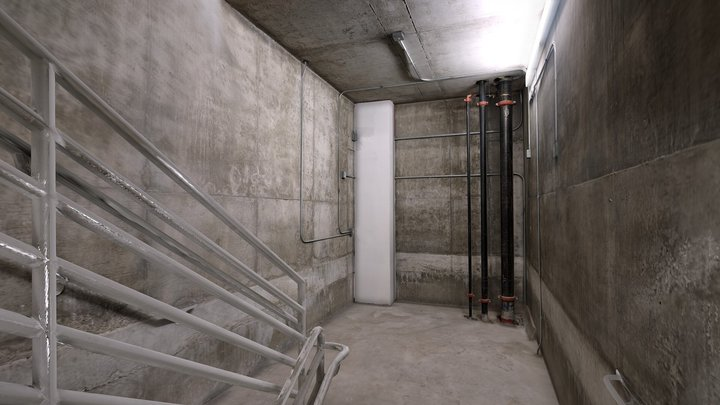 Scary Stairwell VR lowpoly photoscan environment 3D Model