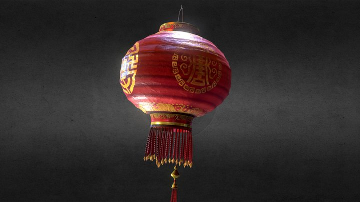 Chinese Lamp 3D Model