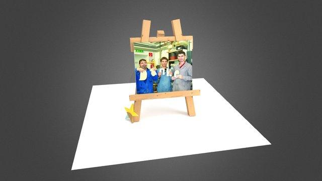 3Hilft easel 3D Model