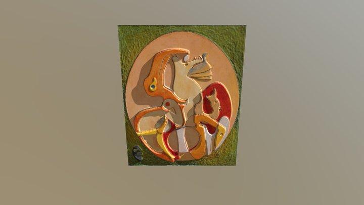 A l'intérieur de la vue de Max Ernst 3D Model