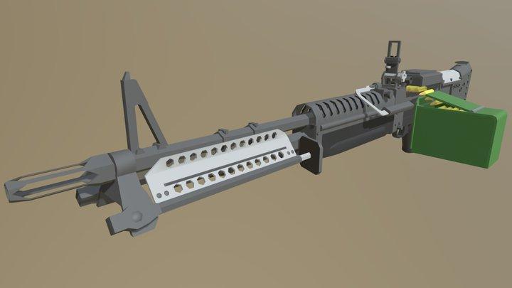 Low Poly M60 3D Model