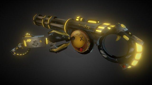 DESDROID - Weapon Crankgun + Rotator 3D Model