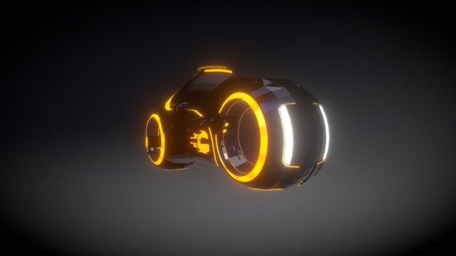 Tron Bike lowpoly 3D Model