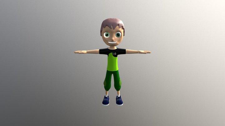 Ben 10 kid 3D Model