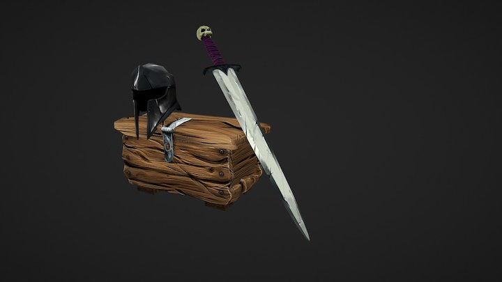 Props #1 - Hand Painted Style 3D Model