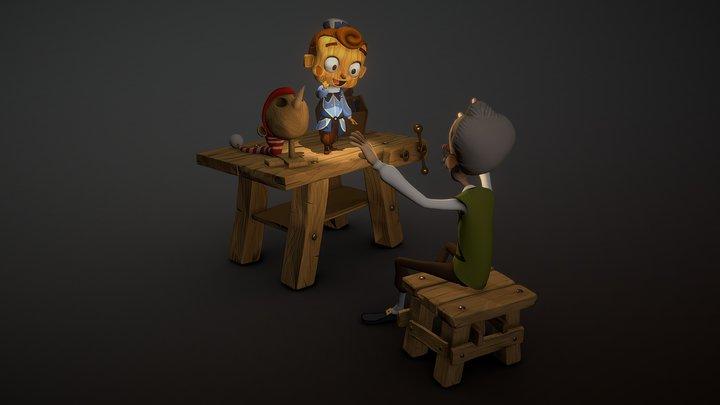 Pinocchio 3D Model