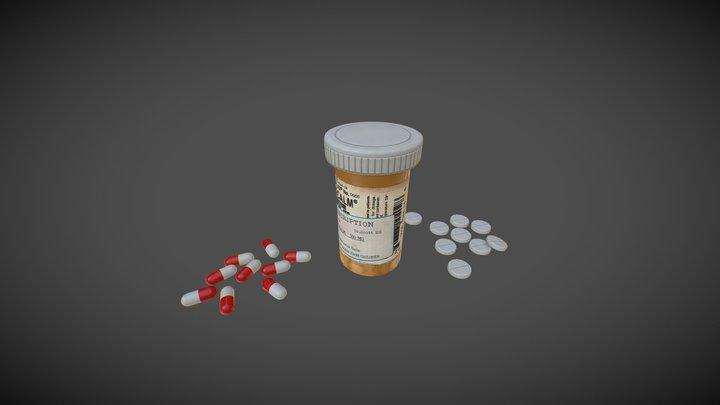Pills Bottle 3D Model