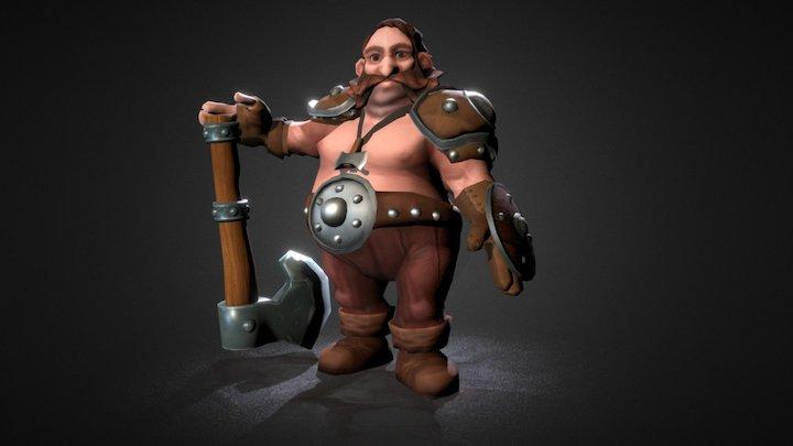 Dwarf Pose 3D Model