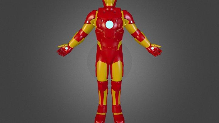 Iron man Armor Mk IV 3D Model