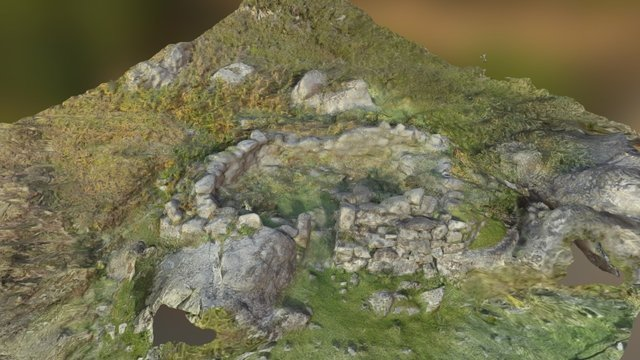 Eastern farmstead cliffside enclosure 3D Model