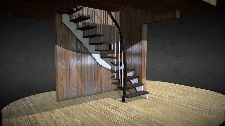 Laiptai Vytautas 3D Model
