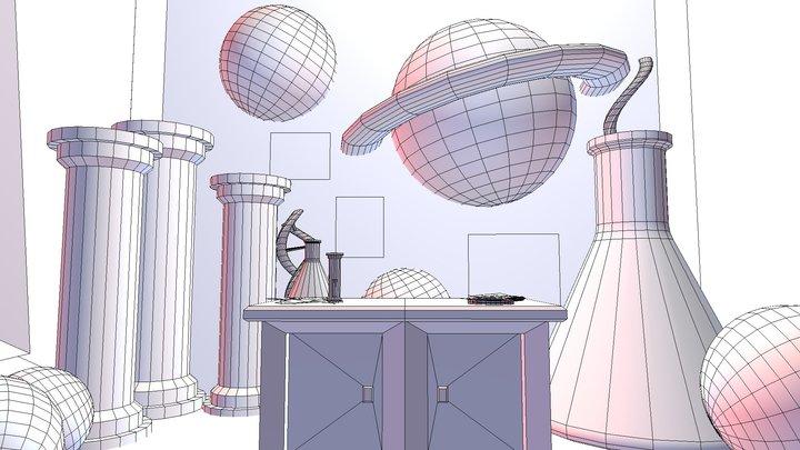 360 Science Room 3D Model