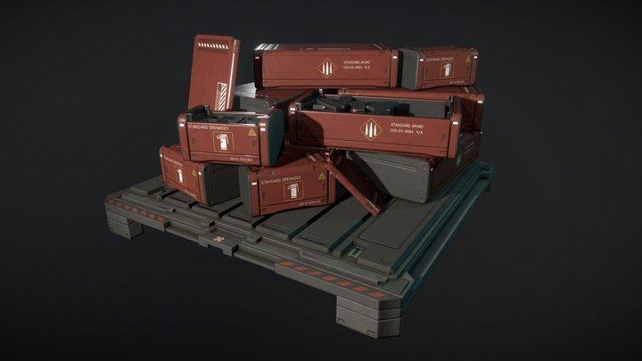 Star Citizen - ammo crates 3D Model