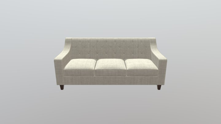 Buttoned_sofa 3D Model