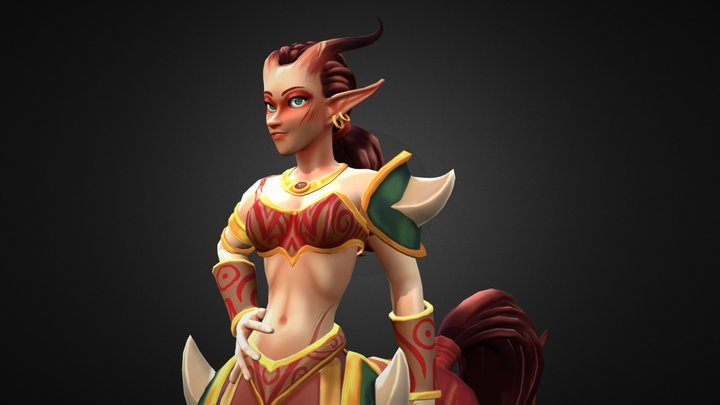 Centaur girl (dota2 fan character) 3D Model