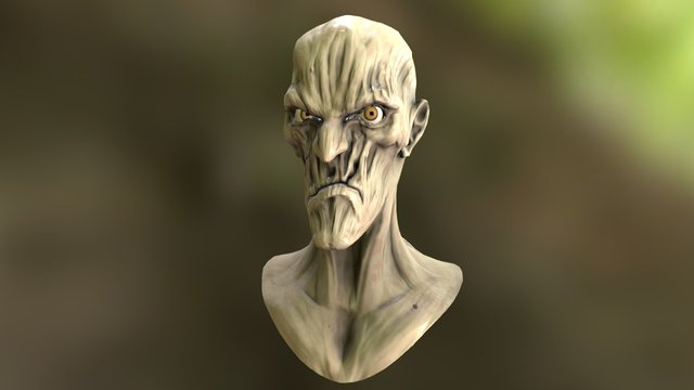 ZombieBust 3D Model