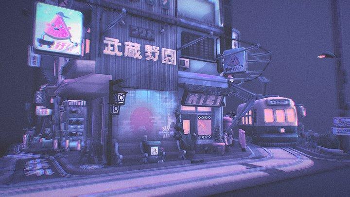 Vaporwave Tokyo: Sketchfab 3D Editor Challenge 3D Model