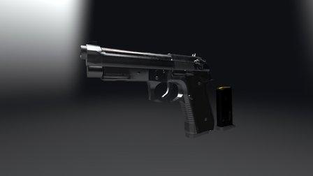 SM Beretta M9a1 3D Model