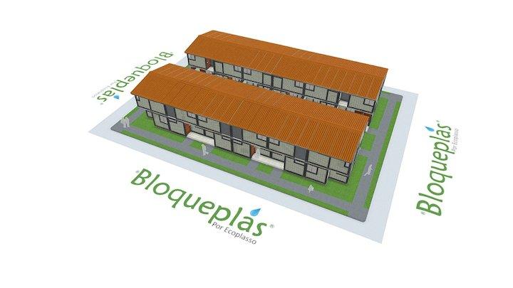 Vivienda social Bloqueplas 2N -Social housing 2L 3D Model