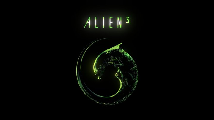 Alien 3 Movie Poster 3D Model
