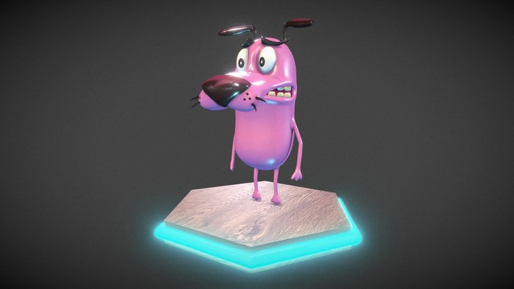 Courage The Cowardly Dog 3D Model