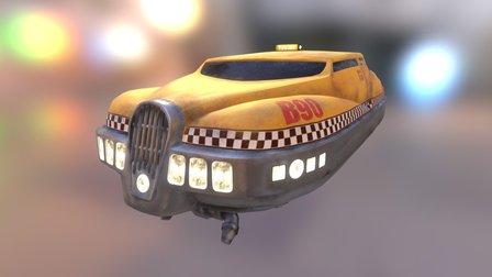 The Fifth Element - Korben's Taxi (WIP) 3D Model
