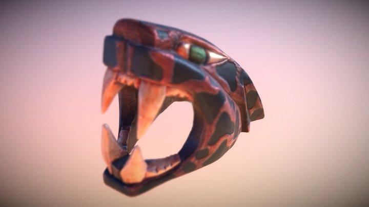 Jaguar Statuette 3D Model