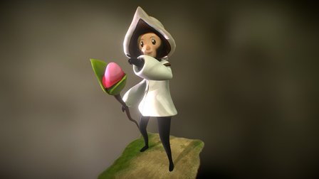Healer Poses with Butterfly 3D Model