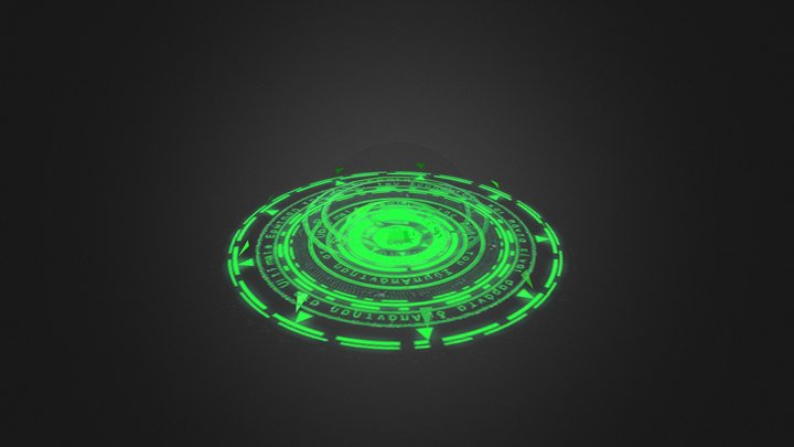 Magic Ring - Green 3D Model