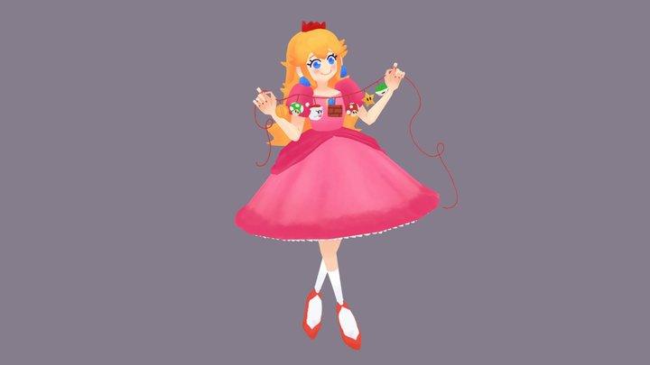 Just Peachy 3D Model