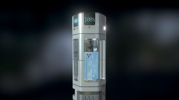 L-CAP Containment Flask 3D Model