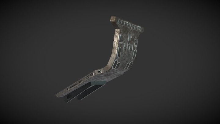 Sci Fi Corridor PIllar Case 3D Model