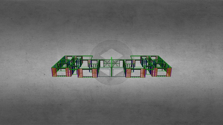 6-7 Grey Street Frames 3D Model