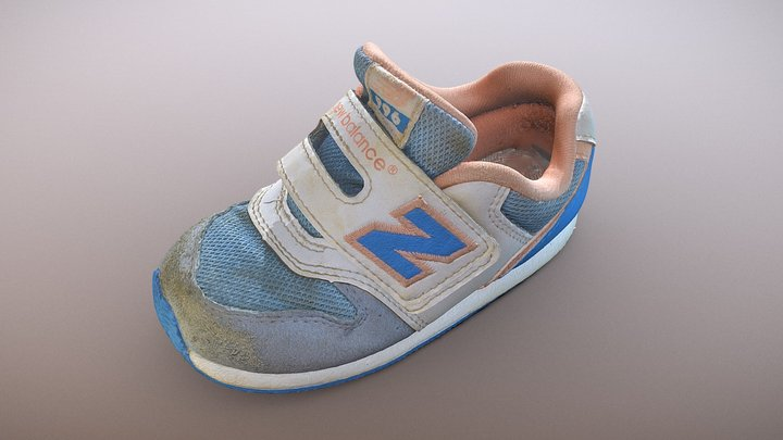 Used child Shoes (3D Scan Raw Mesh 150k) 3D Model