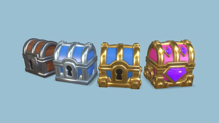 Stylised Gatcha / Loot Chests Bundle 3D Model