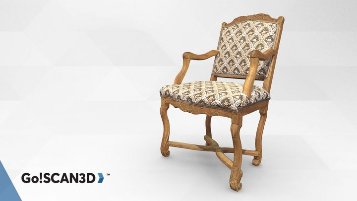 Antique Chair scanned with Go!SCAN SPARK 3D Model