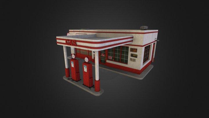 Retro City Pack Building 08 3D Model