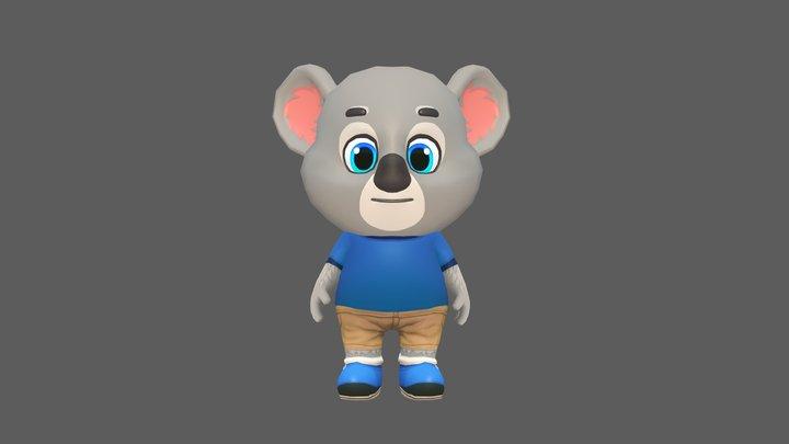Koala Bear Animated Rigged 3D Model