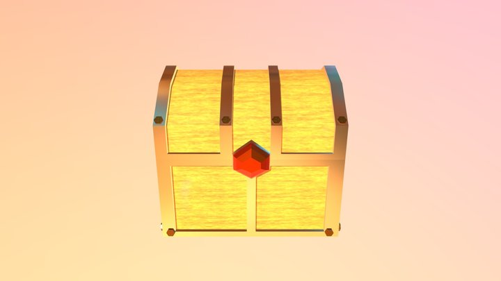 LowPoly Chest to Game 3D Model
