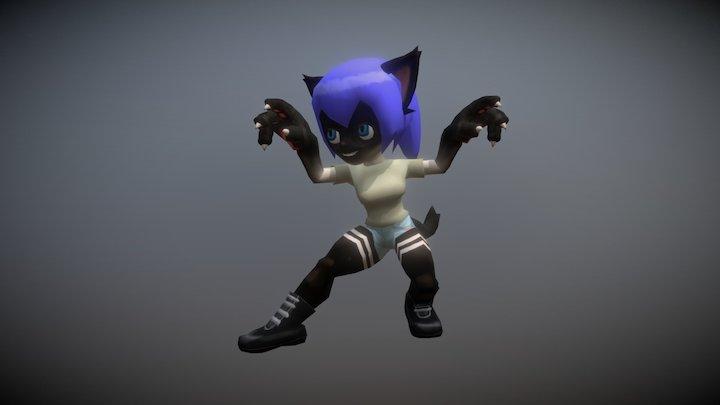 CatGirl 3D Model