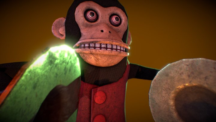 [PBR] Cymbal Monkey_Used/Dirty [Low Poly] 3D Model