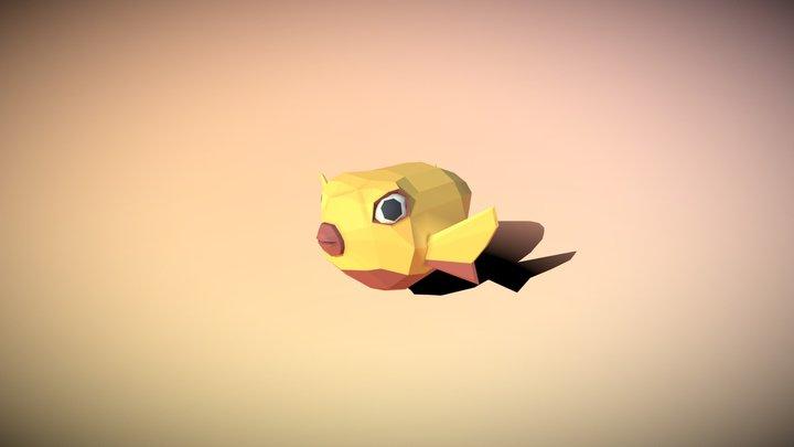 Low Poly Pufferfish 3D Model