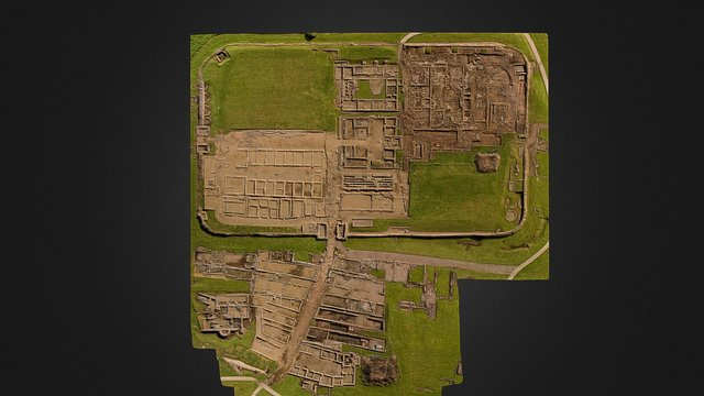 Vindolanda Fort and vicus excavation areas 2015 3D Model