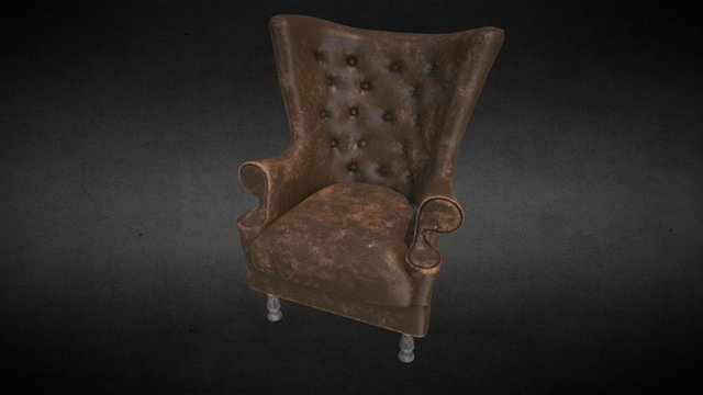 Old armchair 3D Model